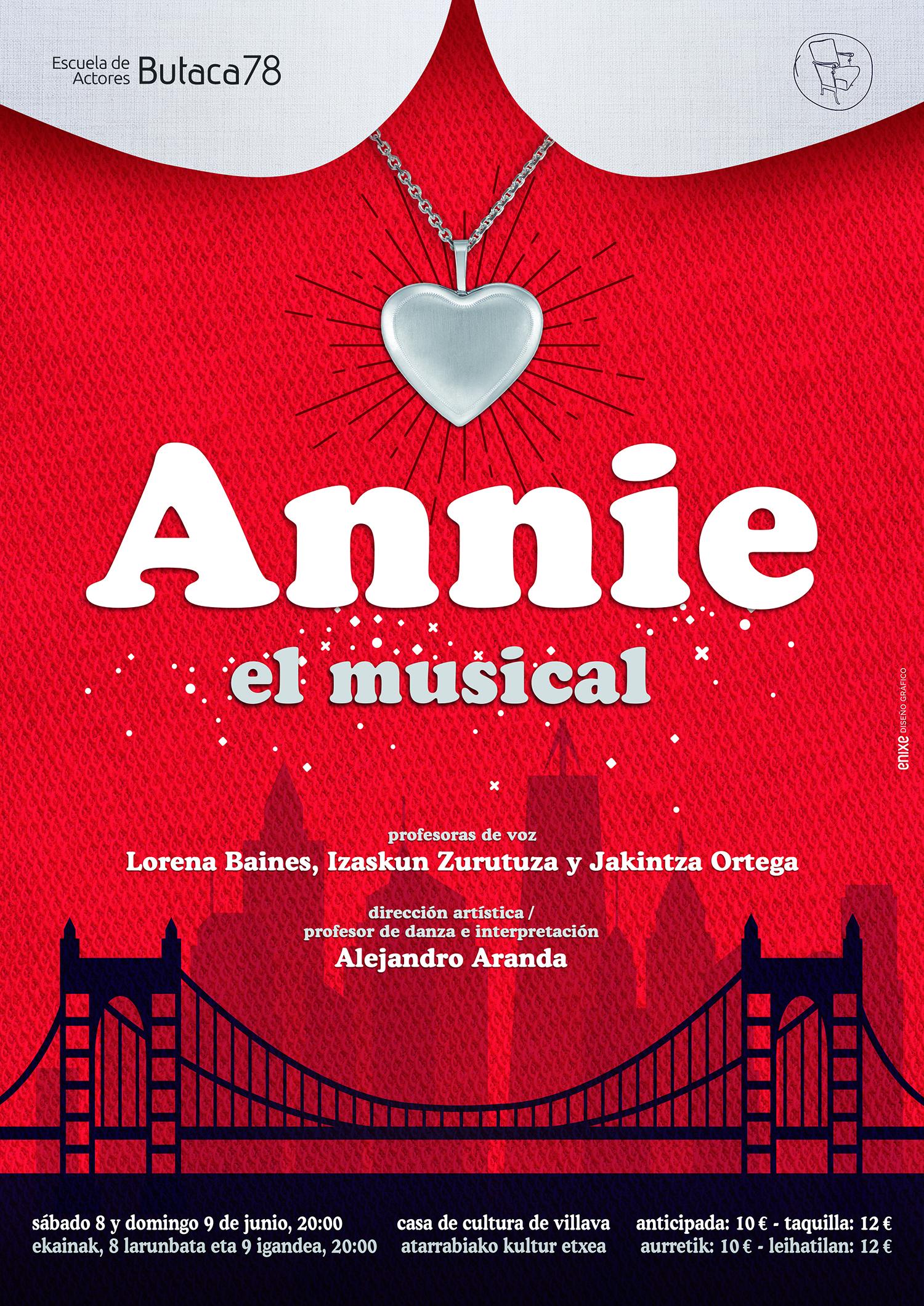 Cartel de teatro Annie