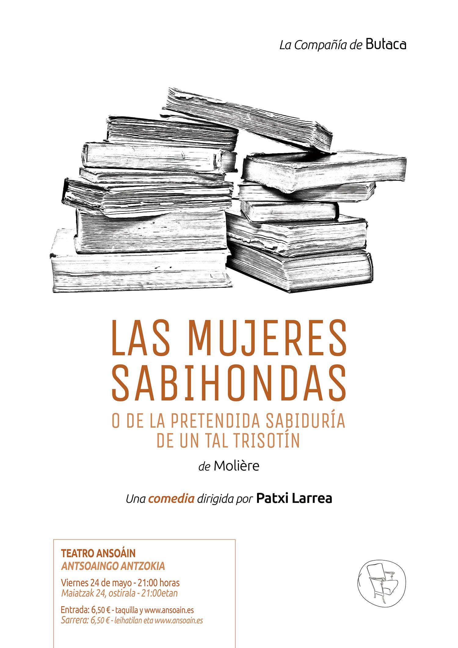 Cartel de teatro Las mujeres sabihondas